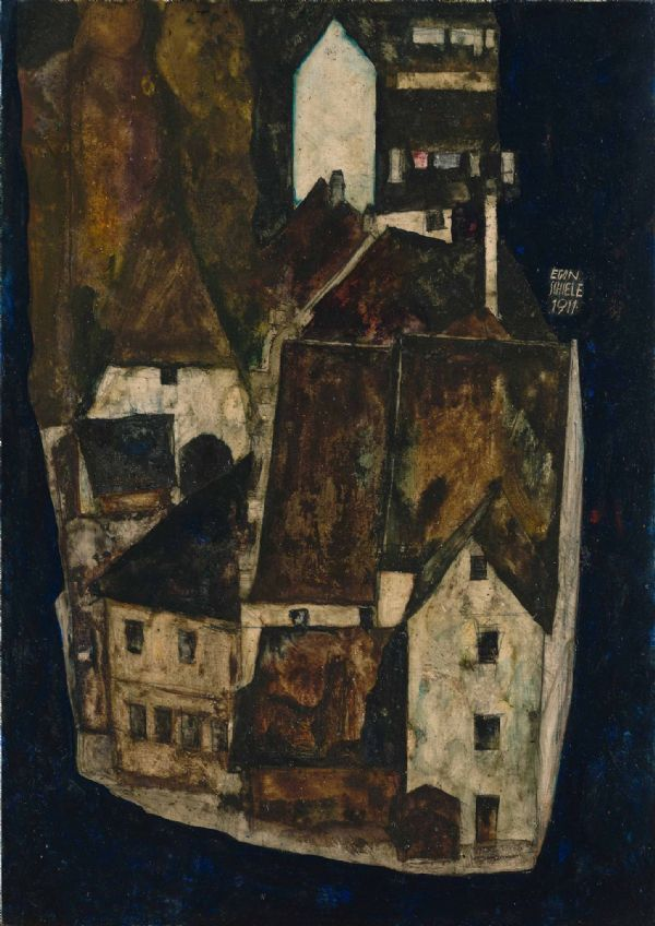 Schiele, Egon: Dead City III (City on the Blue River III). Fine Art Print/Poster. Sizes: A4/A3/A2/A1 (003675)